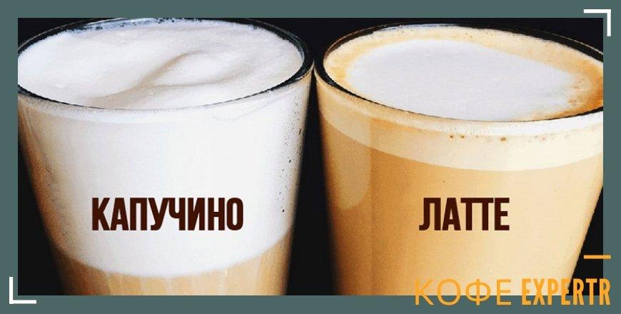 Кофейная пенка на двух бокалах с кофе
