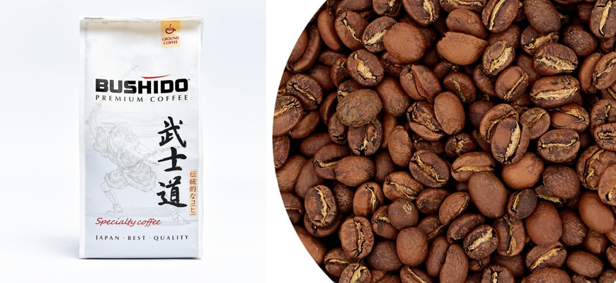 Упаковка кофе Bushido Speciality