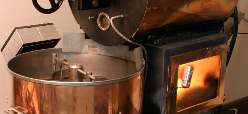 Специальная дровяная печь для обжарки зёрен