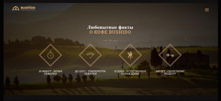 Страница с официального сайта Bushido
