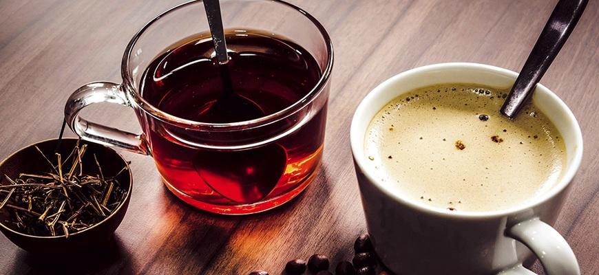 Чашка кофе и чай